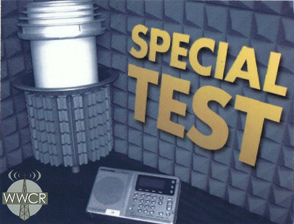 QSL WWCR Special Test