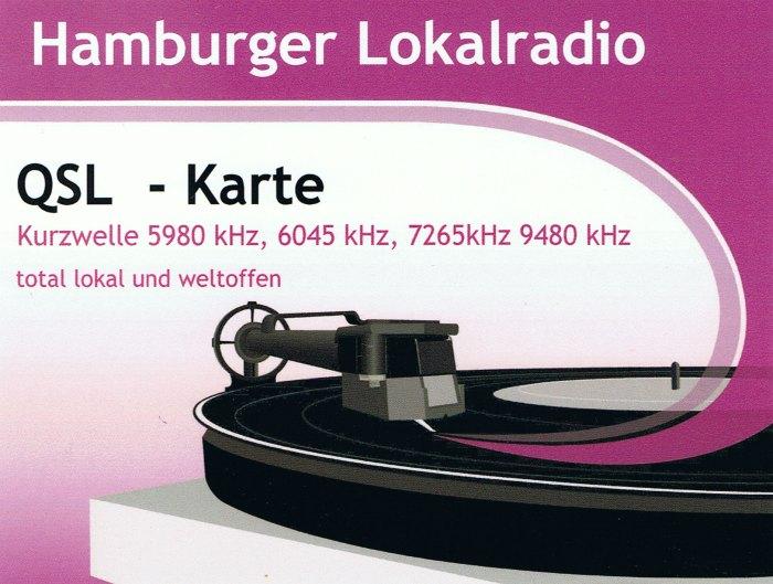 QSL de Hamburg Lokal Radio