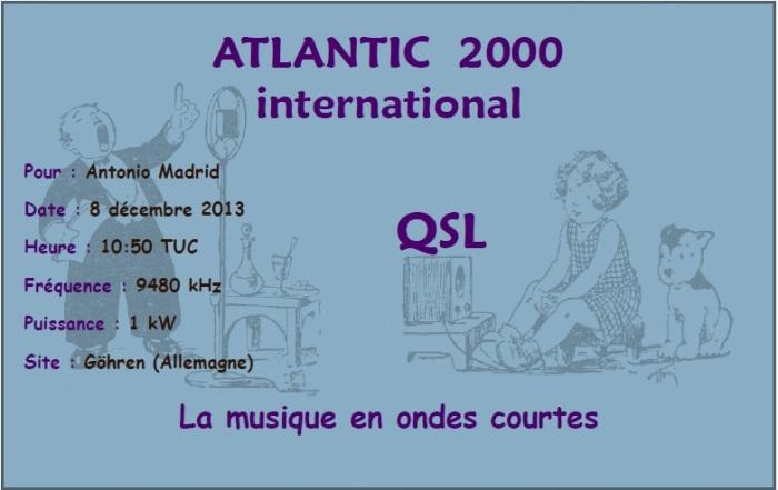 QSL Atlantic 2000 International