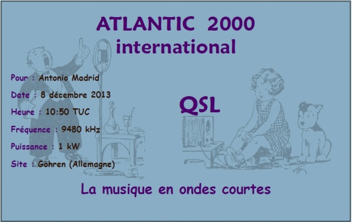 QSL Atlantic 2000 International