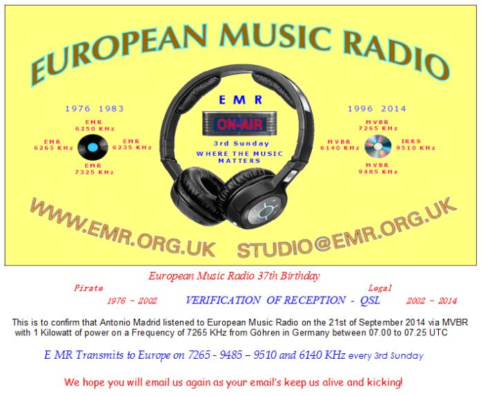 QSL Europa Music Radio