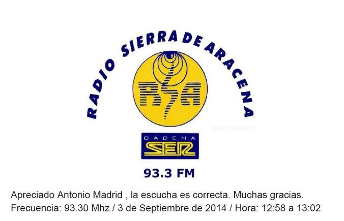 QSL Radio Sierra de Aracena