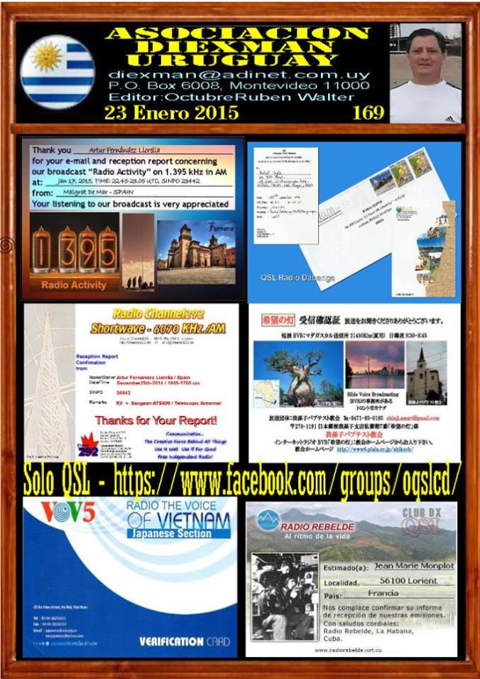 Disponible el boletin 169 de la Asociacion Diexman Uruguay