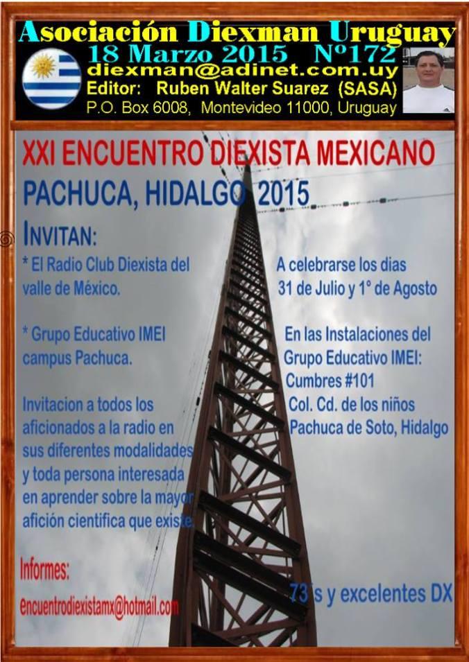 Disponible el boletin 172 de la Asociacion Diexman Uruguay