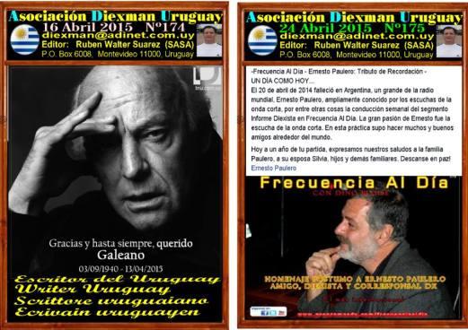Disponible el boletin 174-175 de la Asociacion Diexman Uruguay