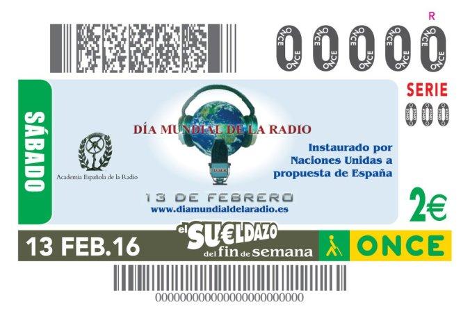 Cupon de la Once Dia Mundial de la Radio