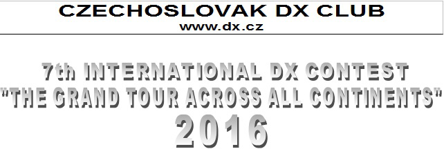 "7th International DX Contest ""The Grand Tour Across All Continents"" 2016"