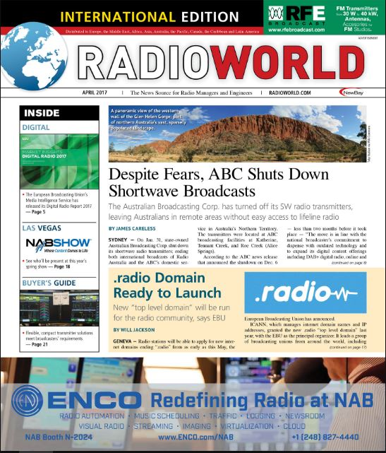 Radio World – Marzo 2017