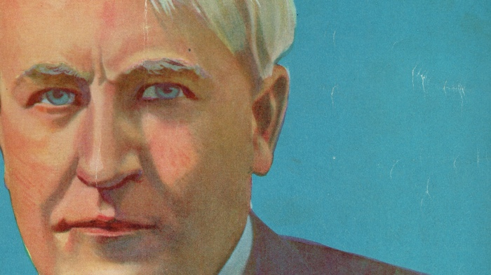 Thomas Edison como apareció en la portada de diciembre de 1919 de la revista Electrical Experimenter Ilustración: archivo de Novak