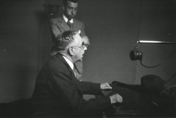 7 de agosto de 1939: el síndico Cairat, en la locución inaugural de Radio Andorra.